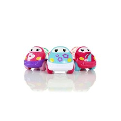 Bright Starts Go Grippers Pink Vehicles - 3pcs pack image here