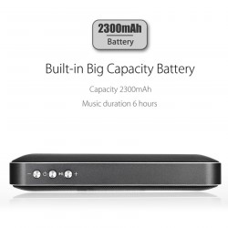 AEC Portable Stereo Bass Bluetooth Speaker With Built In 2600 MAH Powerbank - Black image here