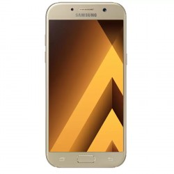 Samsung Galaxy A5 2017 32GB (Gold Sand) with Free Level U Pro and flip wallet cover image here