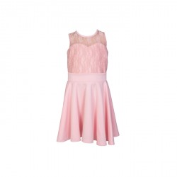 Baby Fashionistas Lacey Pink Girl Party Dress Pink image here