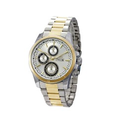 Hea Cipher Unisex Two Tone/White Stainless Steel Watch Kha2103-1304   image here