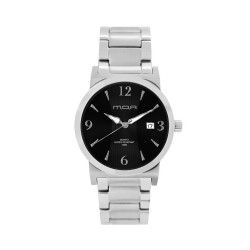 M.O.A Men's Versa Vintage - Bamboo Series Pair Analog Stainless Steel Silver / Black KM1144-1102 Watch image here