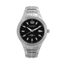 M.O.A Men's Tycho - Latisse Series Analog Stainless Steel Silver / Black KM1156-1102 Watch image here