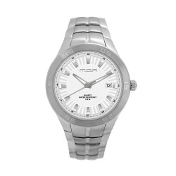 M.O.A Men's Tycho - Scalere Series Analog Stainless Steel Silver / White KM1158-1101 Watch image here
