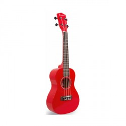 """23"""" Colored Concert Size Ukulele (Red)   image here"""