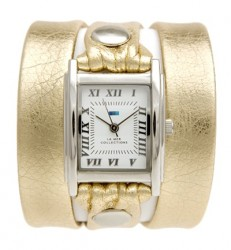 Gold Silver Simple Wrap Watch image here